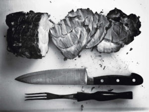 sült hús